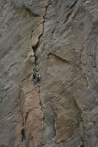 Rock and Climbers, Boulder Colorado USA
